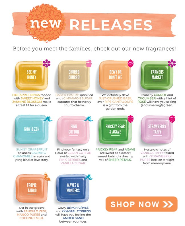 New Scentsy Scents Spring 2019