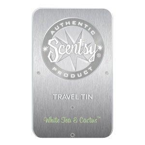 White Tea and Cactus Scentsy Travel Tin