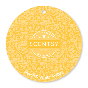 Peach and White Amber Scentsy Scent Circle
