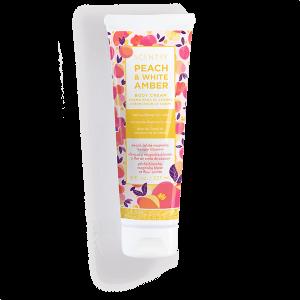 Peach and White Amber Scentsy Body Cream