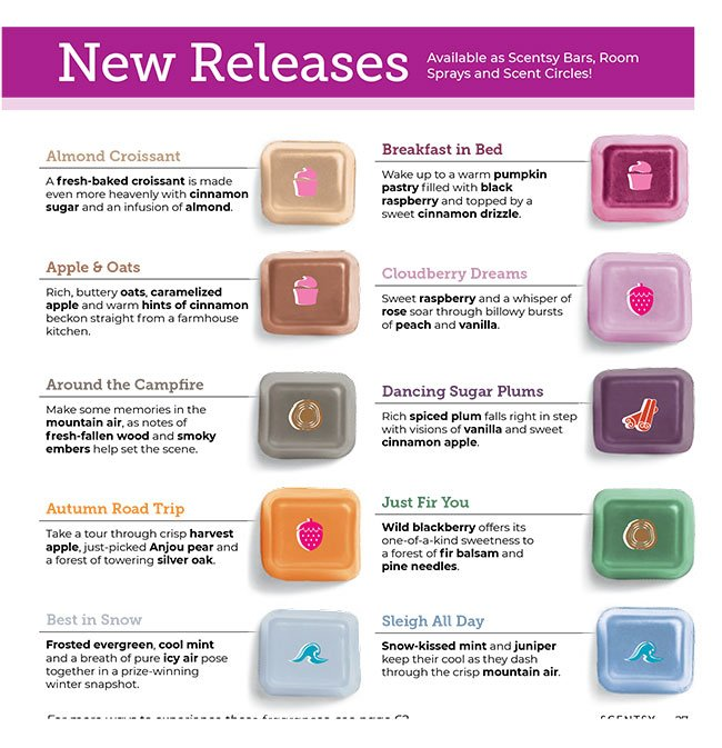 New Scentsy Scents Fall 2020